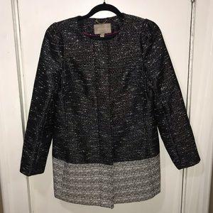 Banana Republic Colorblock Textured Tweed Coat